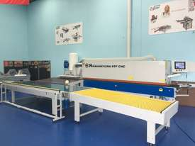 Edgebanders with corner rounder + pre milling + return conveyor - picture19' - Click to enlarge