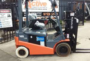 TOYOTA 4 WHEEL ELECTRIC FORKLIFT 1.8 TON CONTAINER MAST LATE MODEL