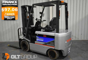 Nissan T1B2R25U 2.5 Tonne Electric Forklift Container Mast Solid Markless Tyres Low Hours