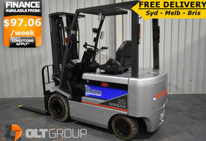 Nissan 2.5 Tonne Electric Forklift Markless Tyres FREE DELIVERY SYD MELB BRIS CANBERRA