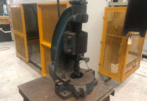Used John Heine 183A Fly Press. 3 ton capacity, comes with stand.