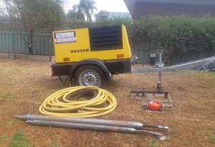 Air compressor and earth hammers