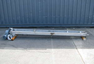 Stainless Auger Feeder Screw Conveyor - 3.15m long