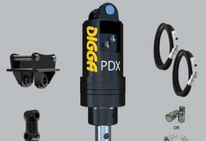 Digga PDX auger drive with Hoses Couplers and Double Pin Hitch