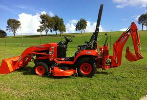 Kubota Bx25, F/E loader, Backhoe and 60inch deck