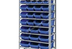 SR-36 Mobile Storage Bin Rack 36 Bins 880 x 410 x 1705mm