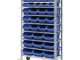 SR-36 Mobile Storage Bin Rack 36 Bins 880 x 410 x 1705mm - picture0' - Click to enlarge