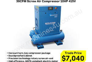 39CFM Electric Screw Air Compressor 10HP 415V