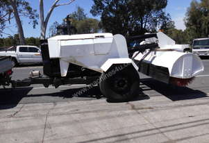 tow behind broom , 3cyl diesel ,