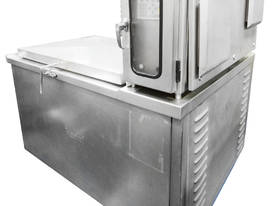 Electrically heated shell-type kettle with mixer a