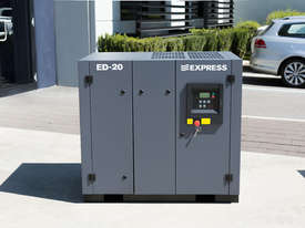 15kW (20 HP) Screw Compressor 85 cfm / 8 bar  - picture0' - Click to enlarge