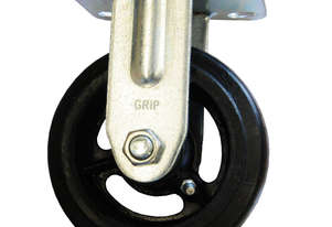42084 - RUBBER MOULDED IRON WHEEL CASTOR(FIXED)