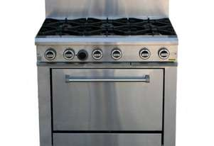 LKKOB6D+O 6 Gas Open Burner Cooktop and Oven