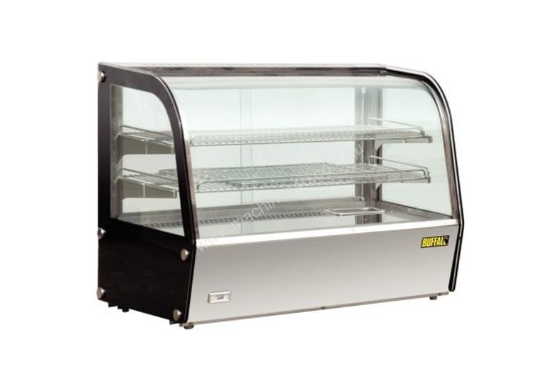 Apuro Heated Countertop Curved Glass Display Cabinet - 160Ltr