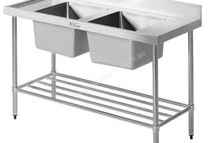 Simply Stainless - Double Sink Bench 600mm Deep