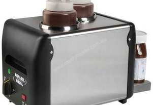 Roller Grill W 2 Double Sauce and Chocolate Warmer