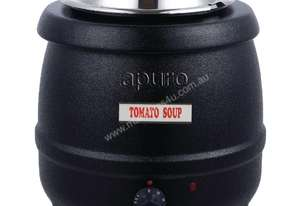 Apuro L715-A - 10Ltr Easy Serve Soup Kettle Black