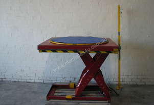 Safetech 900kg Scissor Lift Table with Turntable - 1300 x 1150 mm