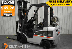 1.8 Tonne Used Forklift 5500mm Lift Height Sideshift 2013 Model FREE DELIVERY SYD MELB BRIS