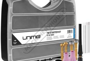 UMSKT3 T3 Tig Torch Consumable Pack Suit T3 Tig Torch Includes 1.6mm & 2.4mm electrodes & Collet Bod