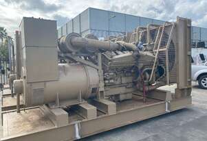 1100 KVA CUMMINS KTTA 38 G DIESEL GENERATOR 5 AVAILABLE , EX GOVERMENT STANDBY USE ONLY