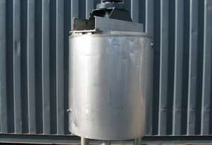 Jacketed Stainless Steel Tank with Mixer - 585L