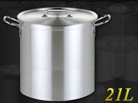 21L COMMERCIAL STAINLESS STEEL STOCK POT