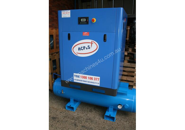 German Rotary Screw - 15hp / 11kW Rotary Air Compressor with Air Receiver Tank