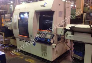 Used Tornos Deco 20 , 10 axis CNC Lathe