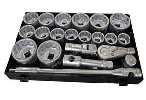 74020 - 21 PC 1'' SQ. DR. SOCKET SET SAE