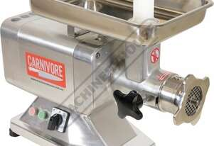 MM-12 Electric Meat Mincer - Stainless Steel 3-way Motor Power Switch, On, Off & Jog Modes 180kg Per