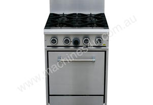 4 Gas Open Burner Cooktop with Gas Static Oven