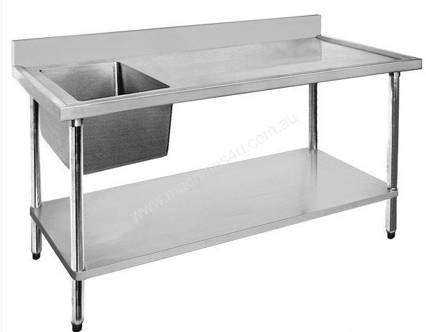 F.E.D. 1500-7-SSBR Economic 304 Grade SS Right Single Sink Bench 1500x700x900 with 500x400x250 sink