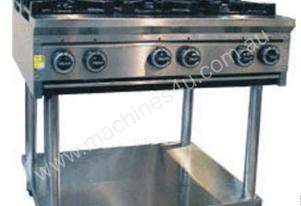 CE6BT-900 6 Burner Cook Top + stand & shelf under