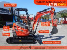 U25 ZAPII 2.2 Ton MINI Excavator Expandable tracks - picture3' - Click to enlarge