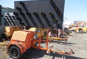 A1 Road Lines Directional Display Sign Trailer