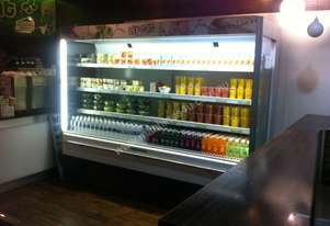 Quirks Large open Display Fridge