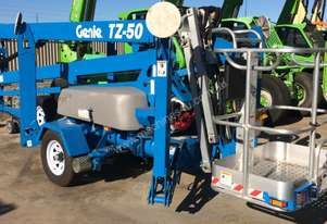 Genie TZ50 DS Hybrid Trailer Mounted Boom Lift - LOW HOURS
