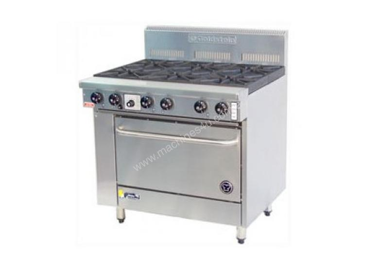 Goldstein 6 Burner Gas Top with Static Electric Oven