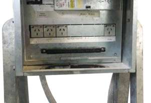 On Site Temporary Switchboard Electrical Box 4 x 240 Volt Outlets on Stand