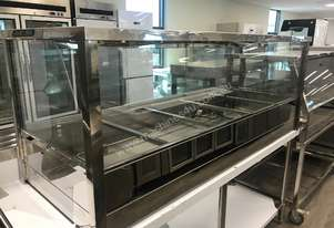 BM17SD Heated Wet 10 x × ½ Pan Bain Marie Square Countertop Display