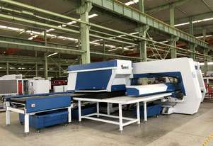 Yawei Turret Punch & Shear Combination with Material Library & Parts Sorting