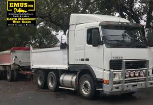 2002 Volvo FH-16 Tandem Tipper & Dog Trailer.  TS455