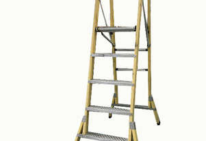 Branach Platform Ladder FPW 1.5 Meter Fiberglass Industrial Stock Picking