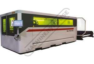 BLE 1530 PRO Baykal Fiber Laser Cutting System Includes Automatic Sheet Exchange Tables IPG YLS 2000