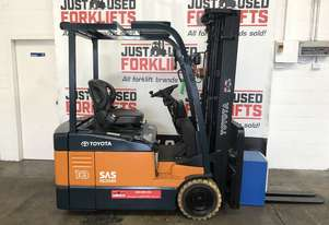 TOYOTA 7FBE18 59989 1.8 TON 1800 KG CAPACITY  ELECTRIC FORKLIFT 4700 MM 3 STAGE CONTAINER MAST