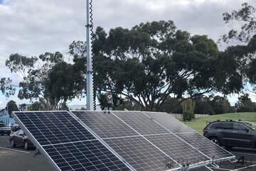 Solar and Lithium Battery Light Tower