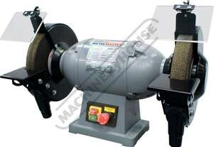 BG-10 Industrial Bench Grinder Ø250mm Fine & Coarse Wheels 1kW - 1.3HP Motor Power