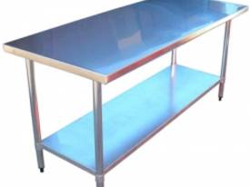 Brayco 3072 Flat Top Stainless Steel Bench (762mmW - picture0' - Click to enlarge