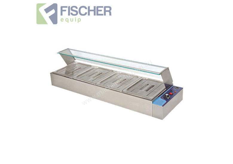 New fischer bain marie 4 x 1 2 gn trays bain marie hot in for Cuisson four bain marie